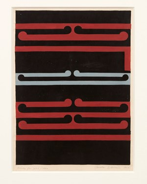 Study for No. 2/Tirangi by Gordon Walters contemporary artwork