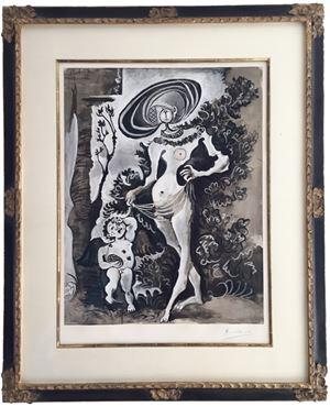 Venus et l'Amour Voleur de Miel by Pablo Picasso contemporary artwork