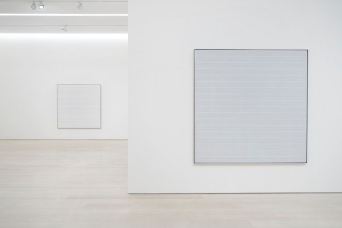 Exhibition view: Agnes Martin, The Distillation of Color, Pace Gallery, New York (5 May–26 June 2021). © Estate of Agnes Martin / Artists Rights Society (ARS), New York. Courtesy Pace Gallery.