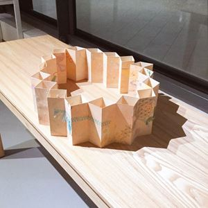 Travelogic (One more folded sunset) by Mei contemporary artwork