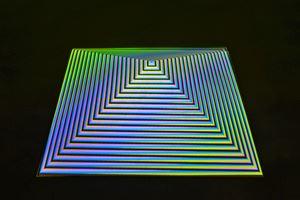 Pyramid d'Interférences Chromatiques by Carlos Cruz-Diez contemporary artwork