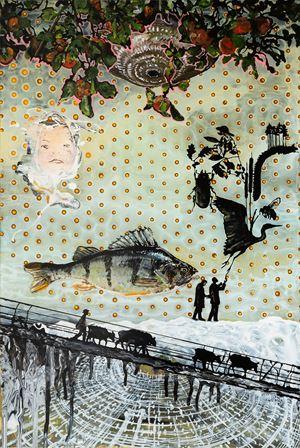 Im Reich der Fische by Wolf Hamm contemporary artwork