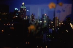 View by night from my window, Roosevelt Hospital, NYC by Nan Goldin contemporary artwork photography