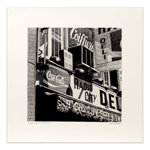 Radio City Deli by Robert Cottingham contemporary artwork