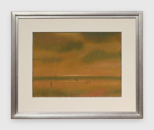 Marine met strand en wandelaars by Léon Spilliaert contemporary artwork