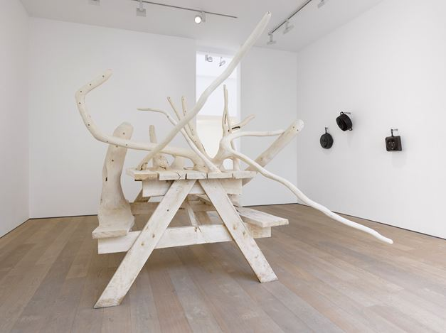 Exhibition view: Hugh Hayden, American Food, Lisson Gallery, Bell Street, London (12 March–31 July 2020). © Hugh Hayden. Courtesy Lisson Gallery.