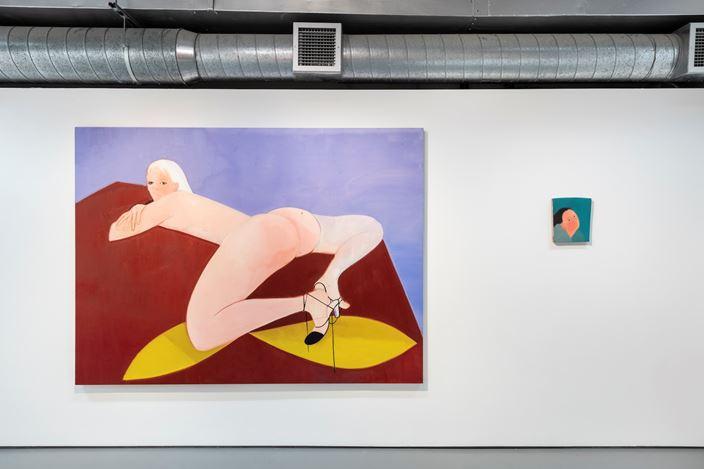 Exhibition view:Sofia Mitsola, Banistiri, Pilar Corrias, London (30 August–25 September 2019). Courtesy the artist and Pilar Corrias, London. Photo: Damian Griffiths.