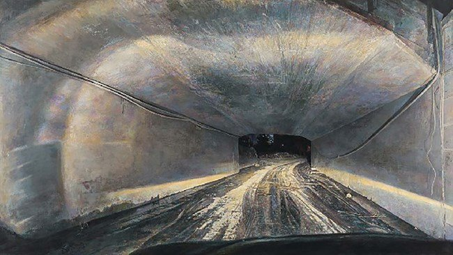 Night Road - Safety Passageway by Lu Liang contemporary artwork