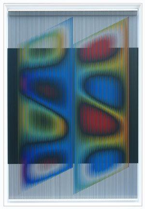 Come...colorare il vento by Alberto Biasi contemporary artwork