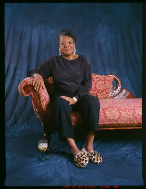 All God's Children Need Travelling Shoes   Maya Angelou at her home in Winston-Salem, N.C. by Margaret Courtney-Clarke contemporary artwork