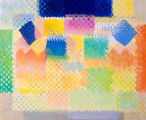 Sommergarten (Chromatische Konstellation) by Heinz Mack contemporary artwork