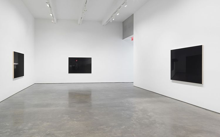 Installation view: Louise Lawler, LIGHTS OFF, AFTER HOURS, IN THE DARK, Metro Pictures, New York (9 September–23 October 2021). Courtesy Metro Pictures, New York.