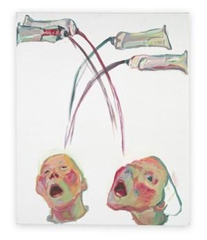 Farbenfresser (Color eater) by Maria Lassnig contemporary artwork