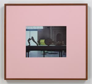 Pink Mat by Louise Lawler contemporary artwork