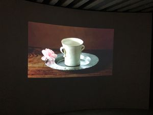A Rose and A Cup by Shirazeh Houshiary contemporary artwork sculpture, moving image