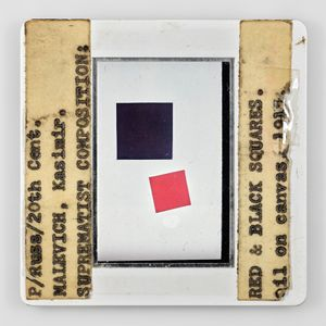 P/Russ/20th Cent MALEVUCH Kasimir SUPREMATIST COMPOSITION RED&BLACK SQUARES oil on canvas 1915-0grad by Sebastian Riemer contemporary artwork