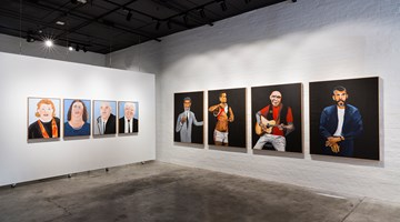 Contemporary art exhibition, Vincent Namatjira, Legends at THIS IS NO FANTASY dianne tanzer + nicola stein, Melbourne