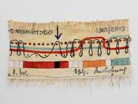 Jaquardbindung by Ingrid Wiener contemporary artwork textile