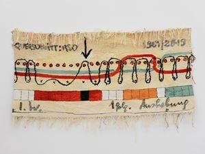 Jaquardbindung by Ingrid Wiener contemporary artwork
