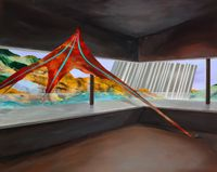 Beyond the Mountains - Pointing at the Avalanche of Innermost World by Chou Tai Chun contemporary artwork painting