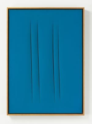 Concetto Spaziale, Attese by Lucio Fontana contemporary artwork painting