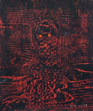Loplop im Wald by Max Ernst contemporary artwork
