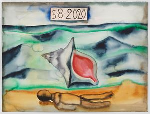 5-8-2020 by Francesco Clemente contemporary artwork