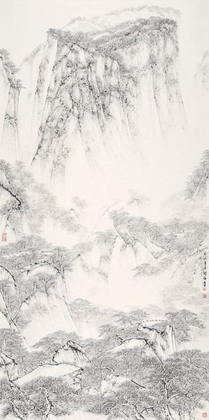 Crystal-water Spring on Mount Hua by Hung Hoi contemporary artwork
