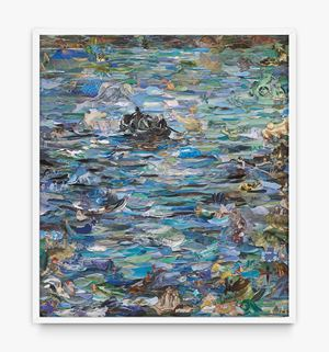 Repro: Musee d'Orsay (Rochefort's Escape, after Manet) by Vik Muniz contemporary artwork