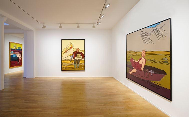 Exhibition view: Valerio Adami, Les années 80, Templon, 30 Rue Beaubourg, Paris (7 September–19 October 2019). Courtesy Galerie Templon, Paris–Bruxelles. Photo: Bertrand Huet Tutti.