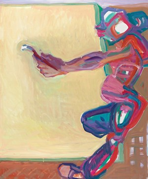 Innerhalb und außerhalb der Leinwand I (Inside and Outside the Canvas I) by Maria Lassnig contemporary artwork