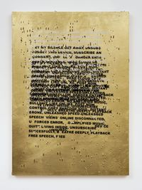 SPEED SPEECH (HYPER POEM LOCKDOWN) by Stefan Brüggemann contemporary artwork mixed media