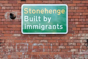 Built by Immigrants by Jeremy Deller contemporary artwork