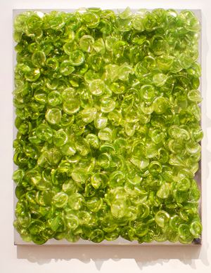 Green on Green (Light/Mixed) by Dani Marti contemporary artwork