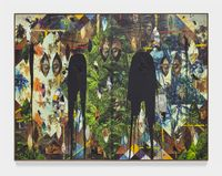 Untitled Escape Collage by Rashid Johnson contemporary artwork mixed media