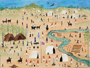 Out and About on the Goldfields by Marlene Gilson contemporary artwork painting