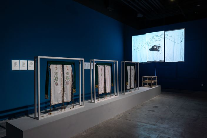 Exhibition view: Group Exhibition,The Middleman, the Backpacker, the Alien Species, and the Time Traveler 留洋四鏢客, TKG+, Taipei (20 July–8 September 2019). Courtesy TKG+.
