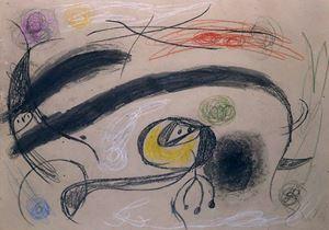 Oiseaux by Joan Miró contemporary artwork