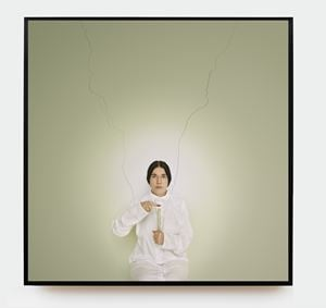 Artist Portrait with a Candle by Marina Abramović contemporary artwork