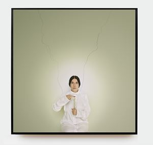 Artist Portrait with a Candle by Marina Abramović contemporary artwork photography