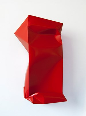 Compressed (Red) by Angela De La Cruz contemporary artwork