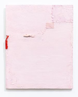 Untitled (soft pink with red) by Louise Gresswell contemporary artwork