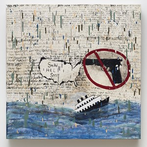 Message in a Bottle by Squeak Carnwath contemporary artwork