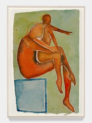 Notturno Indiano I by Francesco Clemente contemporary artwork