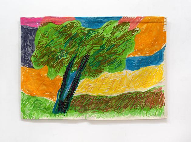 Etel Adnan, L'Olivier (2019). Wool tapestry. 140 x 200 cm. © Etel Adnan. Courtesy Galerie Lelong & Co.