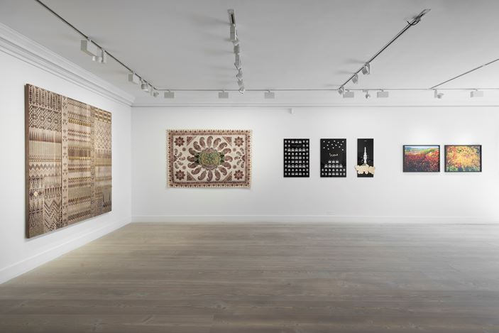 Exhibition view: Group Exhibition, Bahith, Gazelli Art House, London (5 July–15 August 2019). Courtesy Gazelli Art House.