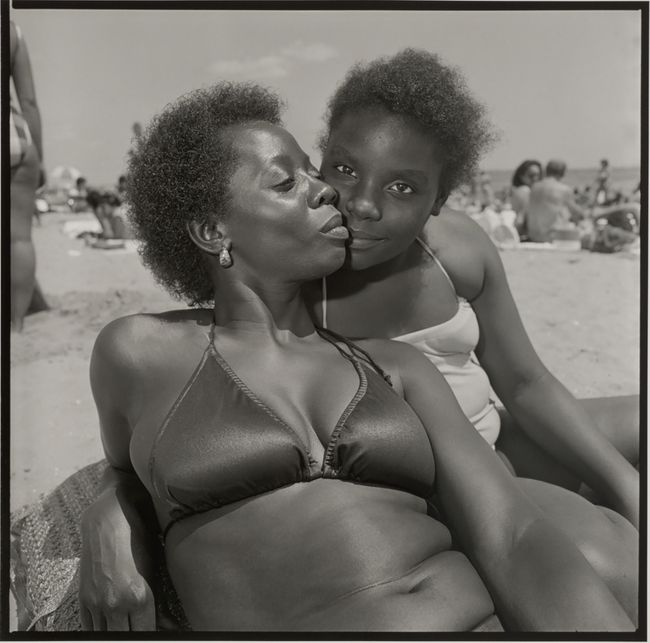 Mother and Daughter. Brighton Beach, New York by Rosalind Fox Solomon contemporary artwork