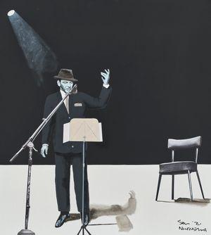 Frank Sinatra by Sam Nhlengethwa contemporary artwork