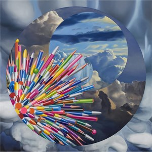 Pens- the four celestial bodies by Hong Kyong Tack contemporary artwork