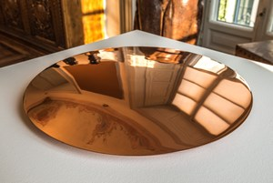 Copper Disc Sometimes Warmed by the Sun by Meg Webster contemporary artwork
